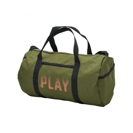 LDS MESH WORK OUT BAG W. STRAP PRINT 'PLAY' ON